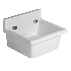 Duravit Starck 3 Utility Wall Hung Basin – 480mm Wide – No Tap Hole – Wonder Gliss