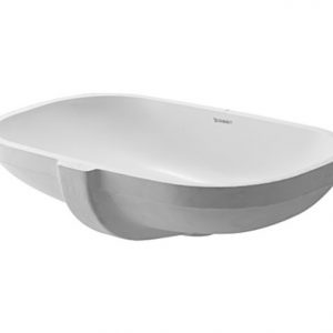 Duravit D-Code Undercounter Basin With Overflow – 495mm Wide – No Tap Hole – White