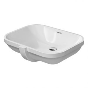 Duravit D-Code Undercounter Basin With Overflow – 560mm Wide – No Tap Hole – White