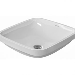Duravit DuraStyle Square Undercounter Basin With Overflow – 600mm Wide – No Tap Hole – White