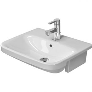 Duravit Durastyle Semi Recessed Basin With Overflow- 550mm Wide – 1 Tap Hole – White