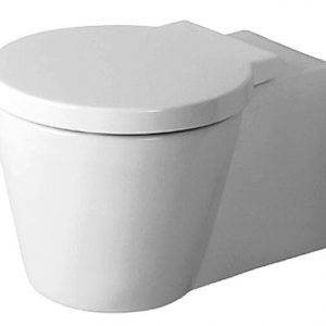 Duravit Stark 1 Wall Hung Toilet With Soft Close Seat – White