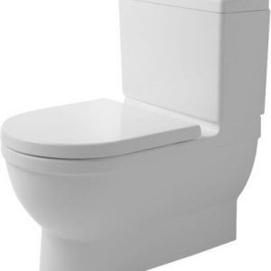 Duravit Stark 3 Close Coupled Back to Wall Toilet Vertical Outlet With Soft Close Seat And Cistern – Hygiene Glaze