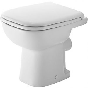 Duravit D-Code Horizontal Outlet Back to Wall Toilet With Seat – Hygiene Glaze