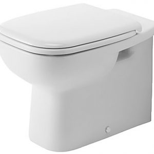 Duravit D Code 560mm Floor Standing Back To Wall Toilet With Soft Close Seat – Hygiene Glaze