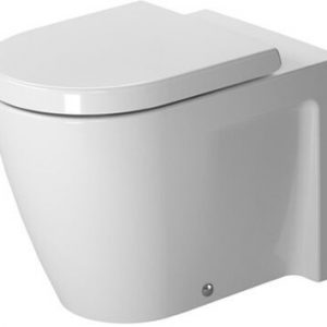 Duravit Stark 2 Wall Connected Back To Wall Toilet With Soft Close Seat – White