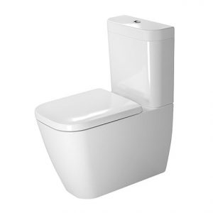 Duravit Happy D.2 Close Coupled WC Toilet With Dual Flush Cistern And Soft Close Seat – White