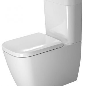 Duravit Happy D.2 Close Coupled Toilet With Side Outlet Cistern And Soft Close Seat – White