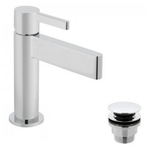 Vado Edit Mono Basin Mixer Tap With Universal Waste Chrome