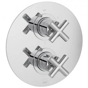 Vado Elements 3 Outlet 2 Handle Round Thermostatic Shower Valve Chrome