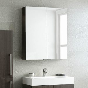 HiB Mirrored Cabinets – 600mm Wide – Gloss Light Grey