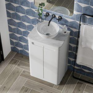 Hib Camber Floor Standing Vanity Unit – 494mm x 815mm – White