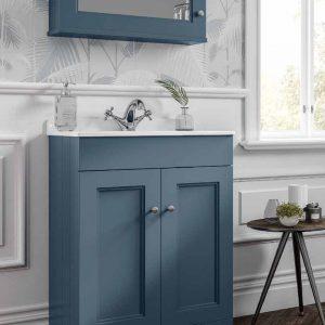Hib Kingsbury Cloakroom Vanity Unit – 494mm Wide – Henley Blue