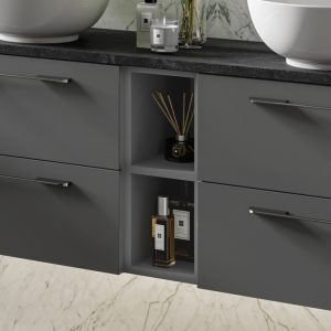 HiB Link Open Storage Unit – 200mm Wide – Anthracite