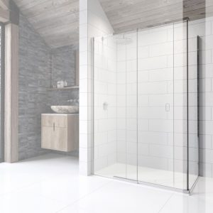Kudos Pinnacle 8 Side Panel To Use In Corner Sliding Shower Door 700mm Wide Chrome