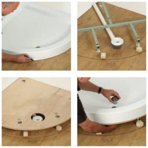 Kudos Moulded Curved Shower Tray Fascia Panel 1200mm Wide White