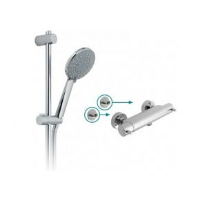 Vado Prima 4 Function Thermostatic Exposed Shower Kit Chrome