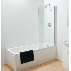 Sommer Round Top Bath Screen – 1500mm x 800mm – 6mm Thick – Clear