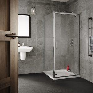 Sommer 6 Pivot Shower Door – 1900mm x 1000mm – 6mm Glass