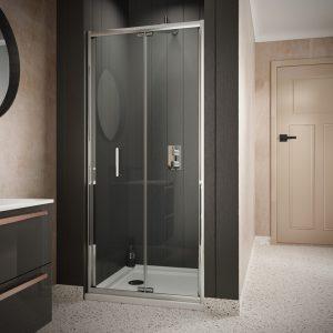 Sommer 6 Bi-Fold Shower Door – 1900mm x 760mm – 6mm Glass