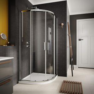 Sommer 6 Double Door Quadrant Shower Enclosure – 900mm x 900mm – 6mm Glass