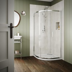 Sommer 6 Single Door Quadrant Shower Enclosure – 800mm x 800mm – 6mm Glass