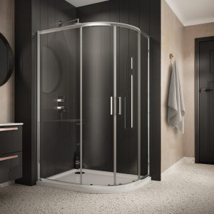 Sommer 6 Double Door Offset Quadrant Shower Enclosure – 1200mm x 800mm – 6mm Glass