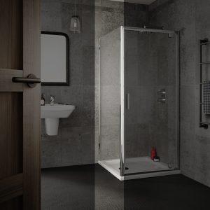 Sommer 6 Shower Door Side Panel – 760mm Wide – 6mm Glass