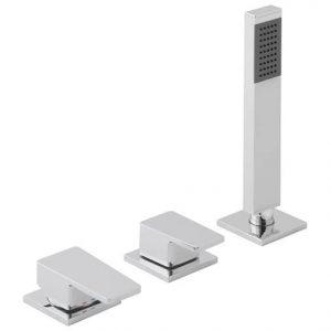 Vado Synergie 3 Hole Bath Shower Mixer Tap Without Spout Chrome