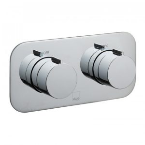 Vado Altitude 2 Outlet 2 Handle Horizontal Thermostatic Shower Valve With All Flow Function Chrome