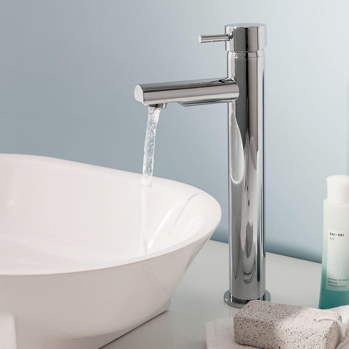 Shop Tall Basin Mixer Taps at Bathroom Shop UK