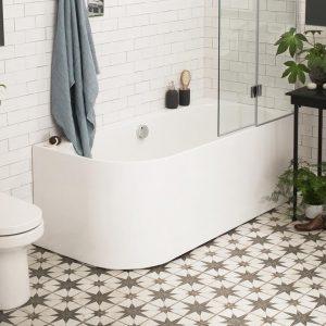 Waters Bath 1660 – Flow Hybrid Shower Bath