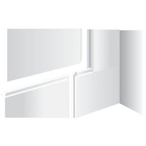 Kudos Aqua4ma Wall And Floor Panels Pack of Two 1200 x 800 x 19mm
