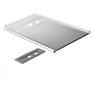 Kudos Aqua4Ma Linear Metal Wet Room Tray And Waste Pack 1200 x 900 mm