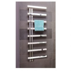 Bisque Alban Designer Towel Warmer- Stainless Steel Mirror 1380mm x 500mm