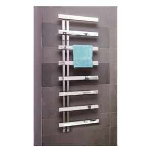 Bisque Alban Electric Towel Warmer left handed Stainless Steel Mirror 1450mm x 500mm
