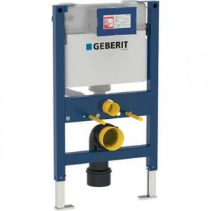 Geberit Duofix 820mm Wall Hung WC Toilet Frame With 150mm Kappa Cistern- Blue