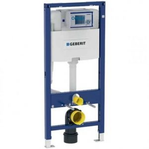 Geberit Duofix 1120mm Wall Hung WC Toilet Frame With 120mm Omega Cistern- Blue
