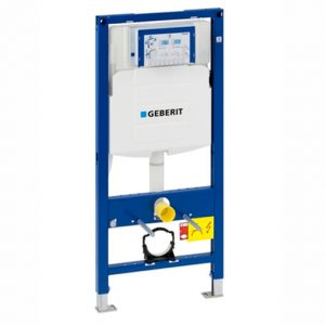 Geberit Duofix 1120mm H WC Toilet Frame with Sigma Cistern – Blue