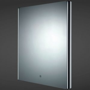 RAK Resort LED Mirror with Demister Pad and Shaver Socket 600mm H x 450mm W
