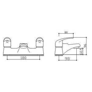 RAK Basic Modern Bath Filler Tap – Chrome
