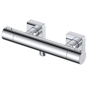 RAK Blade Wall Mounted Exposed Thermostatic Bar Valve – Chrome