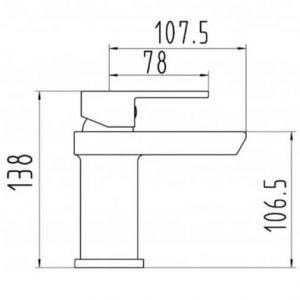 RAK Art Block Mono Basin Mixer Tap