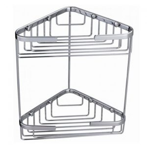 RAK Double Corner Basket Wall Mounted – Chrome
