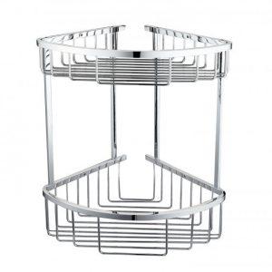 RAK Double Round Front Corner Basket – Chrome