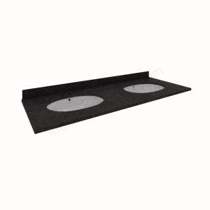 RAK Washington 1200mm Countertop 1TH – Black with Backsplash