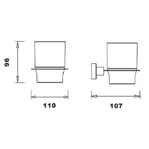 RAK Cubis Tumbler – Chrome