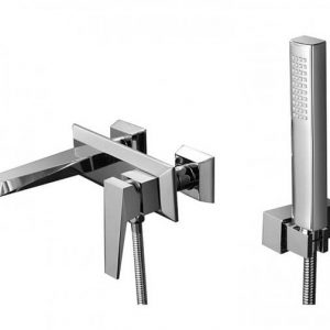 RAK Dimensions Exposed Wall Mounted Bath Shower Mixer Tap – Chrome