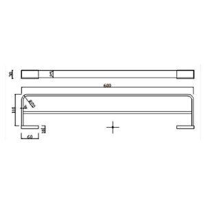 RAK Moon Double Towel Rail – Chrome