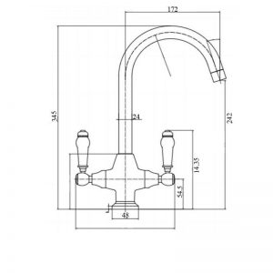 RAK Kitchen Sink Mixer Tap Ceramic Lever – Chrome